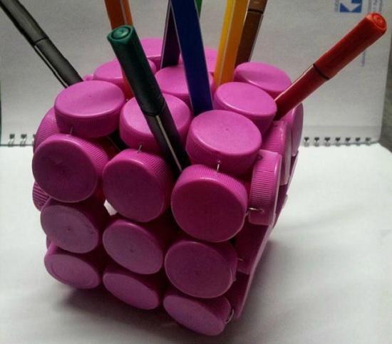 Ideias de decoração com tampinhas