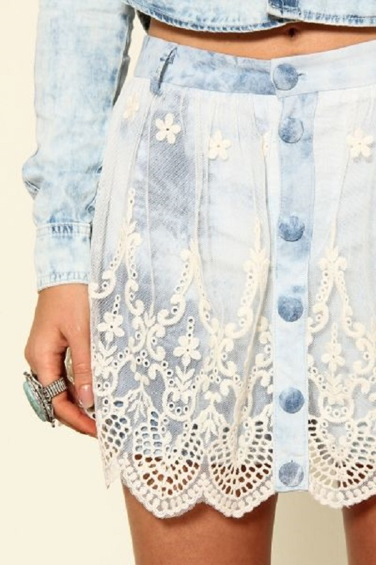Ideias de como customizar saia jeans