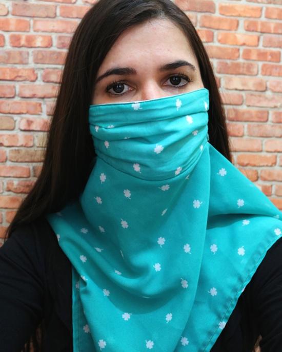 Máscara de lenço proteção contra o coronavírus