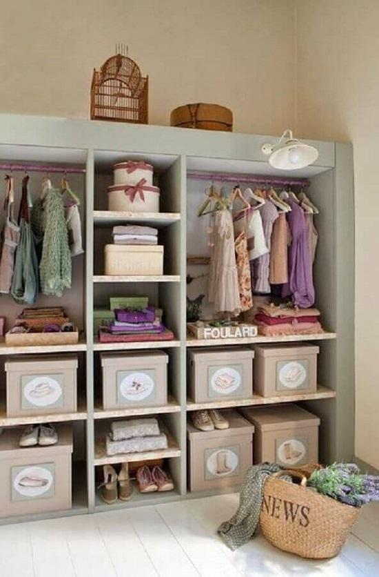 Como transformar seu quarto em closet