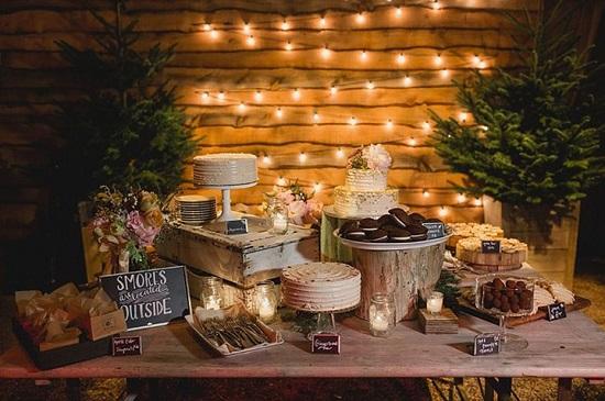 Decoração para mini wedding rústico