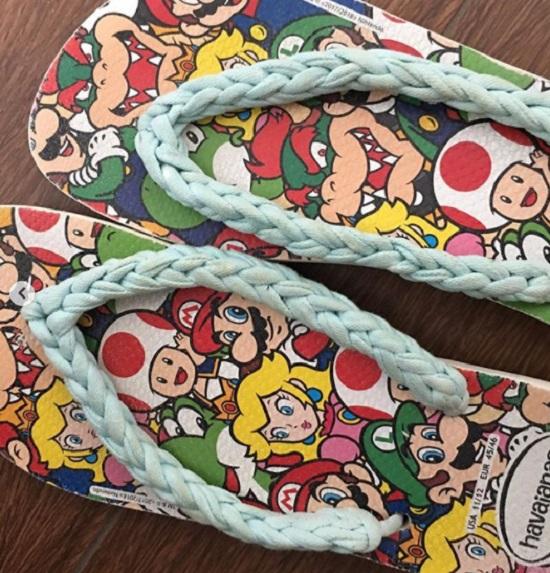 Ideias de chinelos customizados