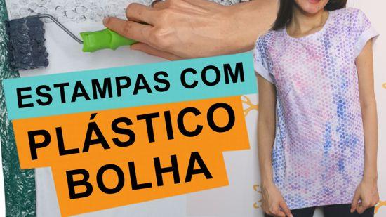 como estampar e customizar camiseta com plástico bolha
