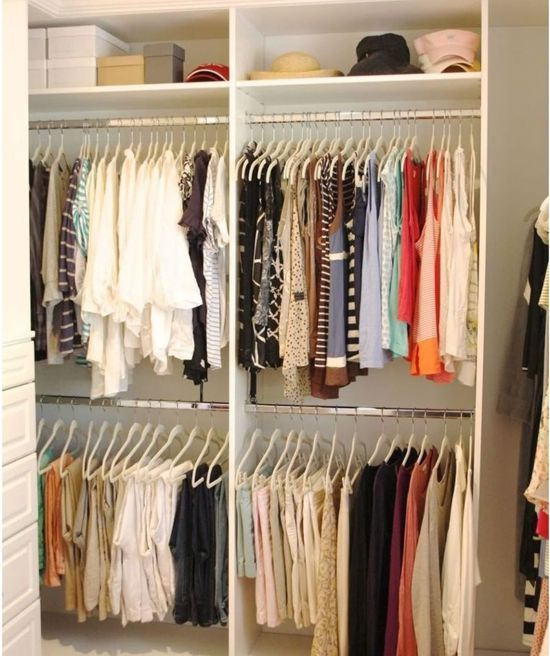 como organizar o guarda-roupa