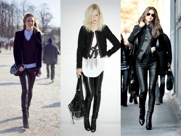 Como usar calça de couro feminina